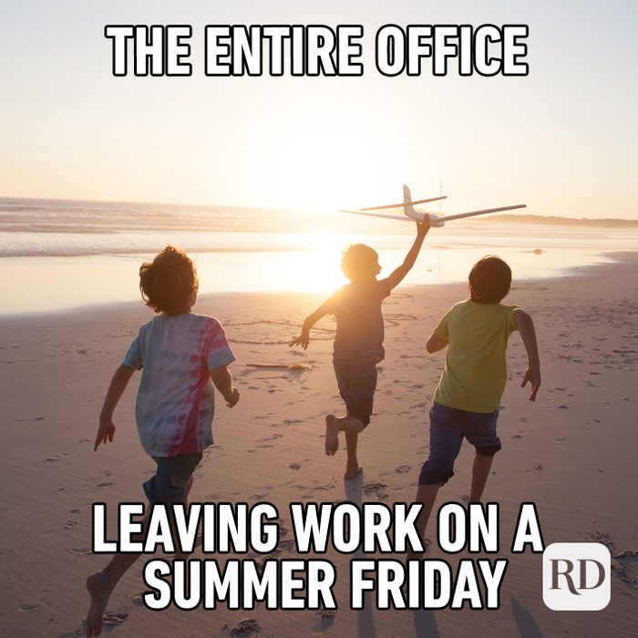 Meme text: The entire office leaving work on a summer Friday