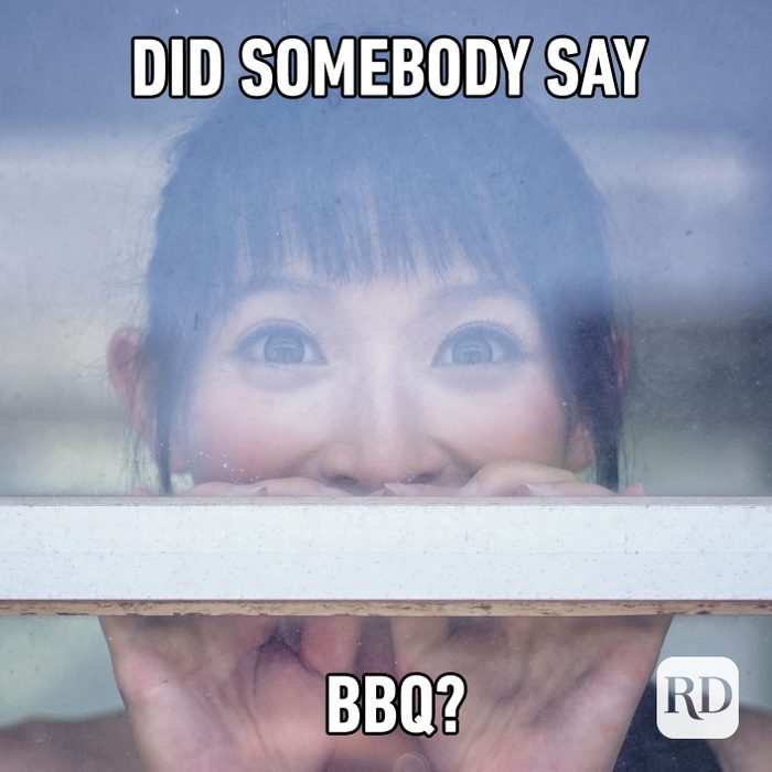Meme text: Did somebody say BBQ?