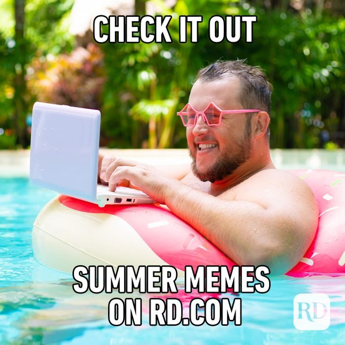 Meme text: Check it out // Summer memes on RD.com