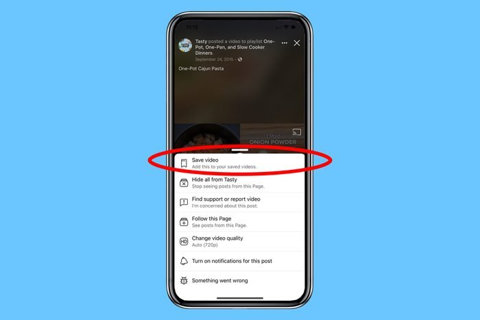 save a video from facebook