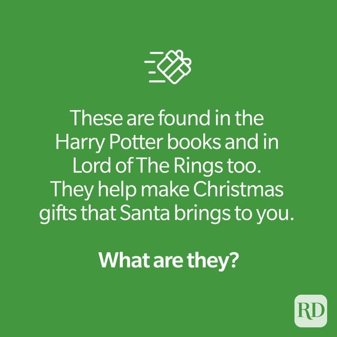 Christmas riddle with icon of wrapped present