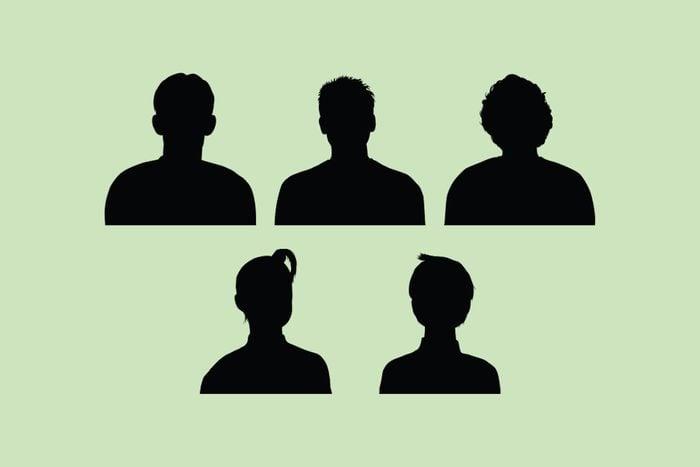 five human figures