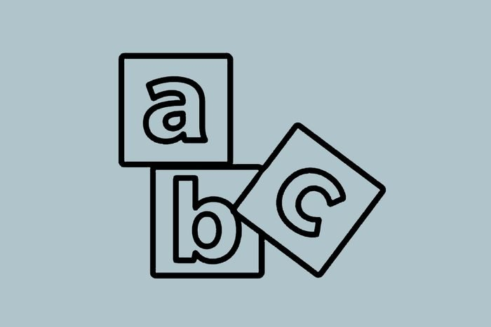 a, b, and c blocks