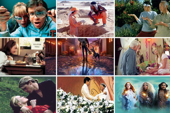 Grid of 9 Classic movies on Amazon and DisneyPlus