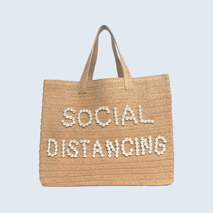 BTB Los Angeles Social Distancing Straw Tote