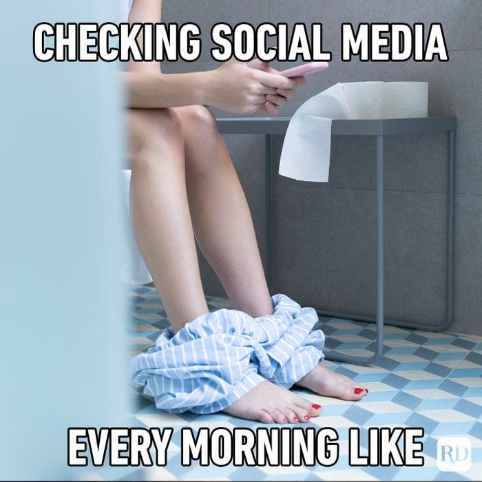 Checking Social Media Every Morning Like