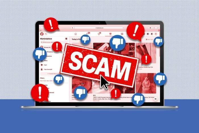 Facebook Marketplace Scams Collage