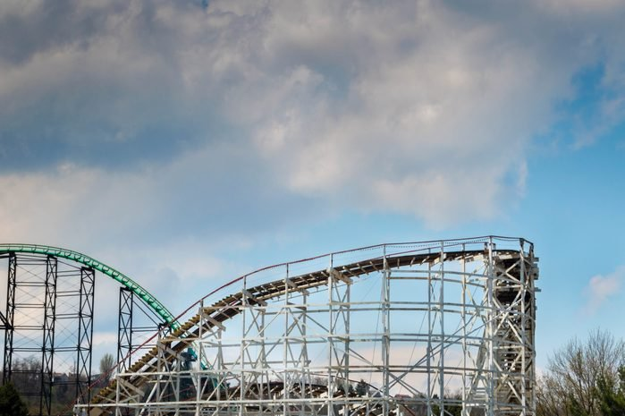 Roller coaster, Kennywood Park outside Pittsburgh, Pennsylvania, USA