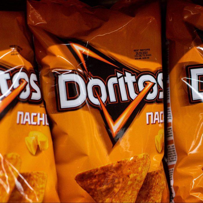 Doritos nachos seen at the grocery store