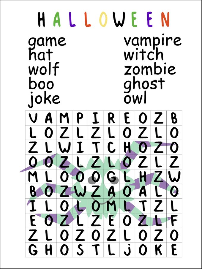 halloween word search puzzle