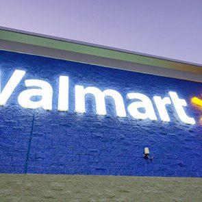 Walmart store at night