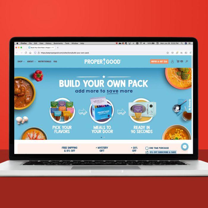 Eatpropergood.com on a laptop screen