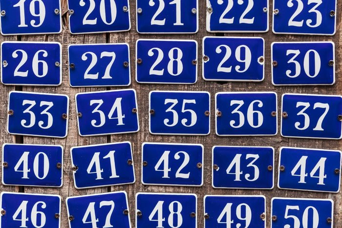 house number plates