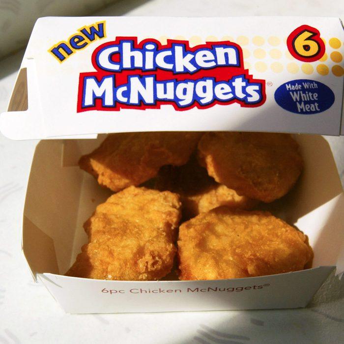 box of mcdonalds chicken mcnuggets