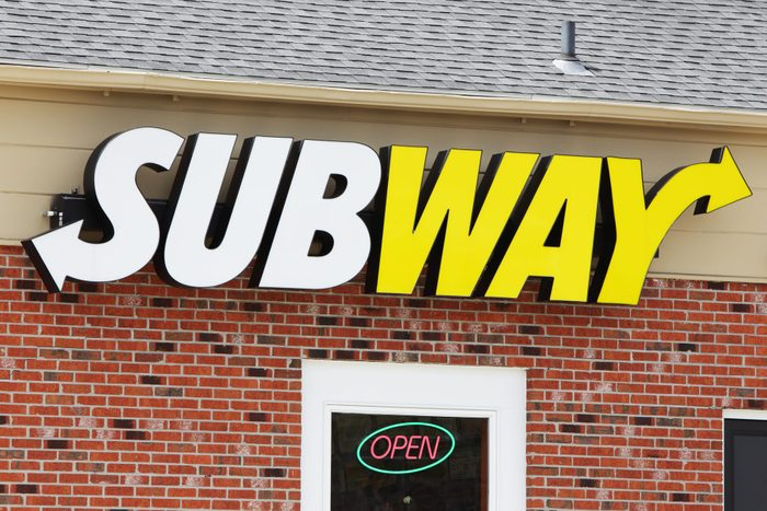 Subway Sandwich Shop Logo Sign