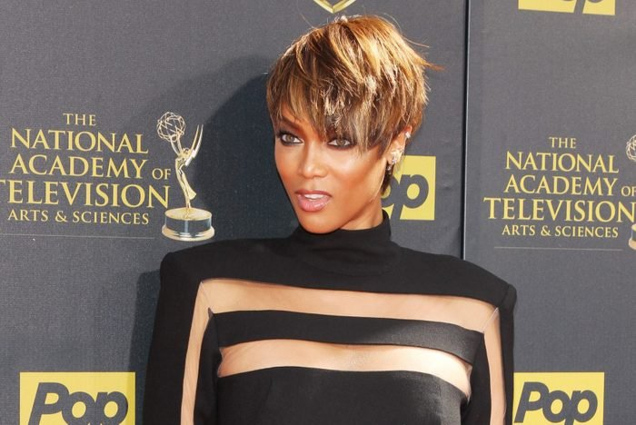 Tyra banks hairstyle with triangle shaped face