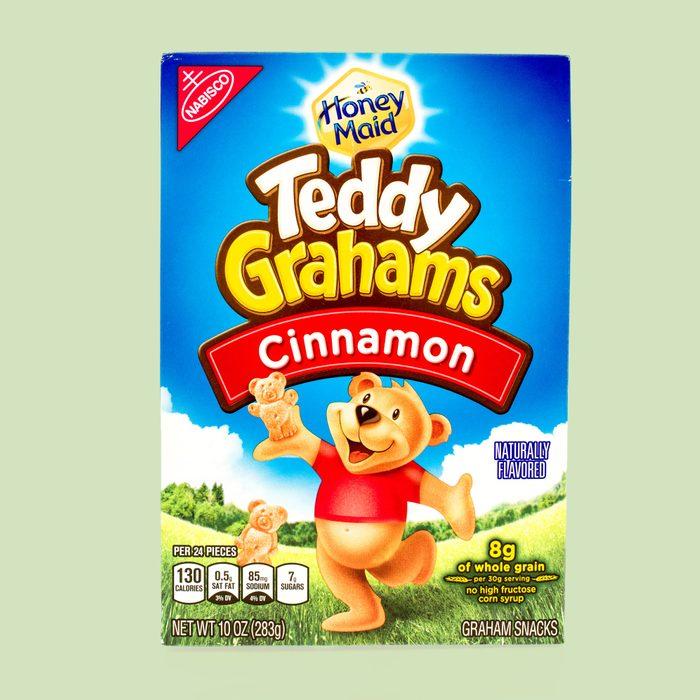 box of cinnamon teddy grahams snack