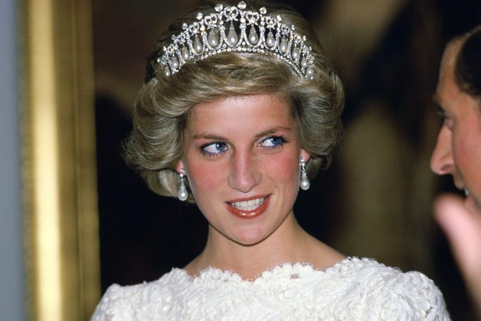 Diana, Princess Of Wales, wearing the Cambridge Lover's Knot tiara