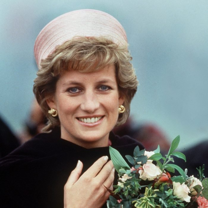 UNITED KINGDOM - MAY 20: Princess Diana Wearing A Black Shawl Wrap During A Visit To Her Regiment In Kent