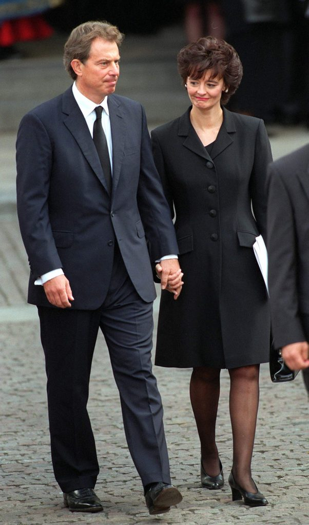 Prime Minister Tony Blair & His Wife Cherie At The Funeral Of Diana, Princess Of Wales