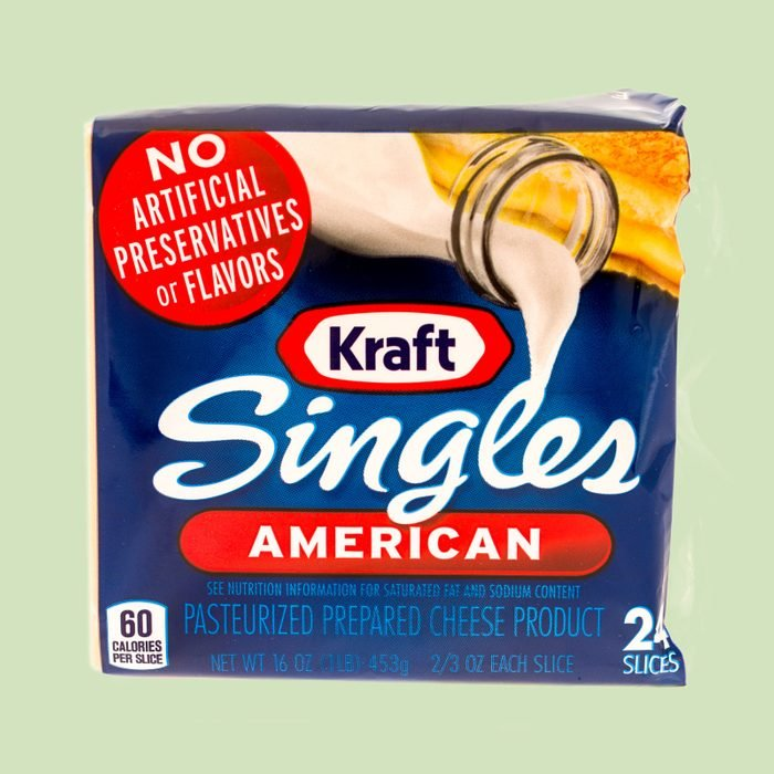 package of kraft singles american cheese slices