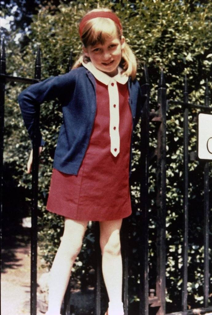Lady Diana Spencer in Cadogan Place Gardens, London