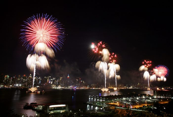 Fireworks Burst Over New York City On Fourth Of July in 2009