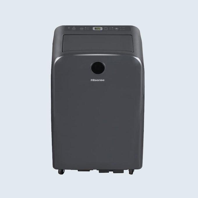 Hisense 10000 Btu Doe (14000 Btu Ashrae) 115 Volt Grey Portable Air Conditioner Wi Fi Compatibility
