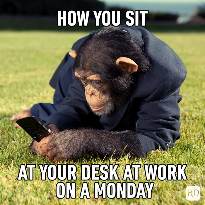How You Sit At Your Desk At Work On A Monday