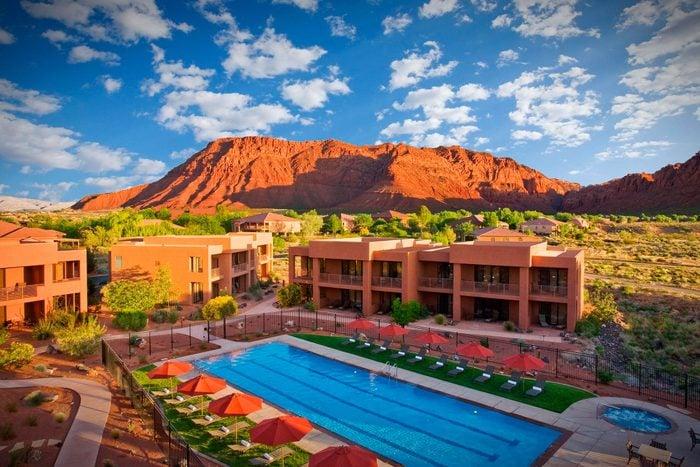 aerial view of Red Mountain Resort, utah