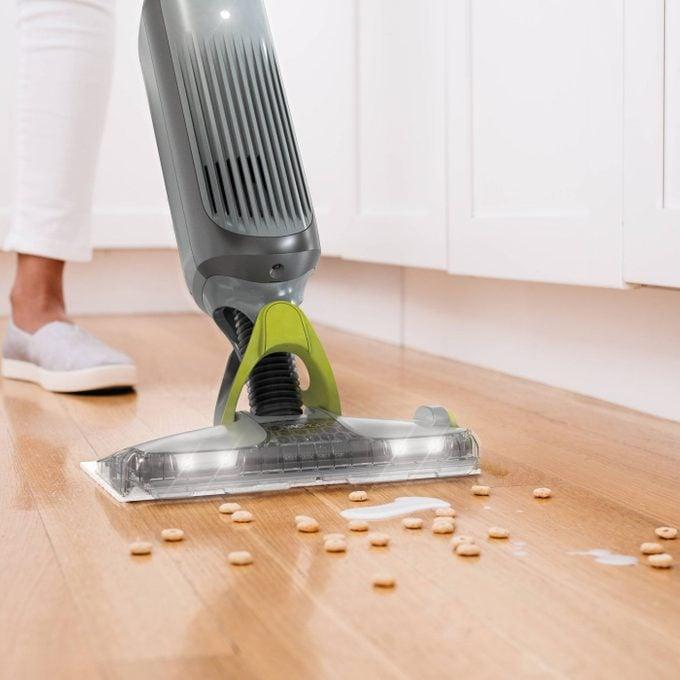Shark Vacmop cleaning the floor