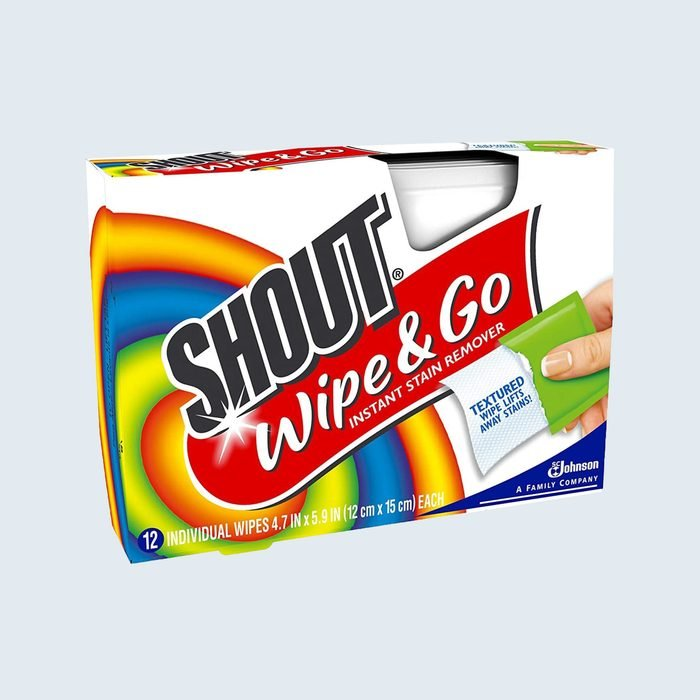Shout Wipe & Go Instant Stain Remover Towelettes