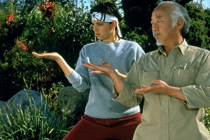 Scene from The Karate Kid