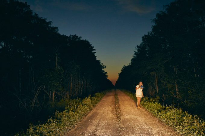 Anne Gorden-Vega scours the roads and levees at night for signs of scales.