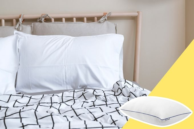 Bed Pillows with inset of new bed pillow to buy