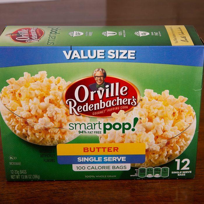 Box Orville Redenbachers Smart Pop Buttered