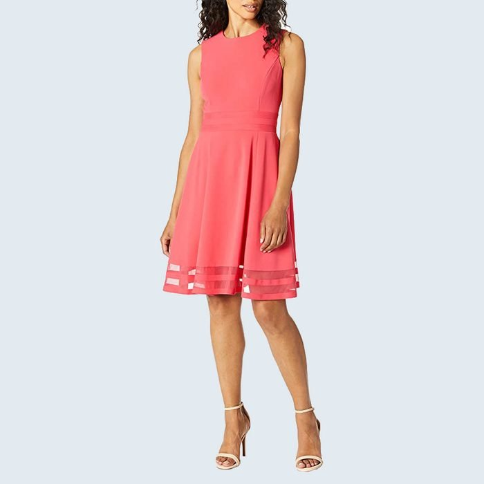 fit and flare dress by Calvin Klein from amazon