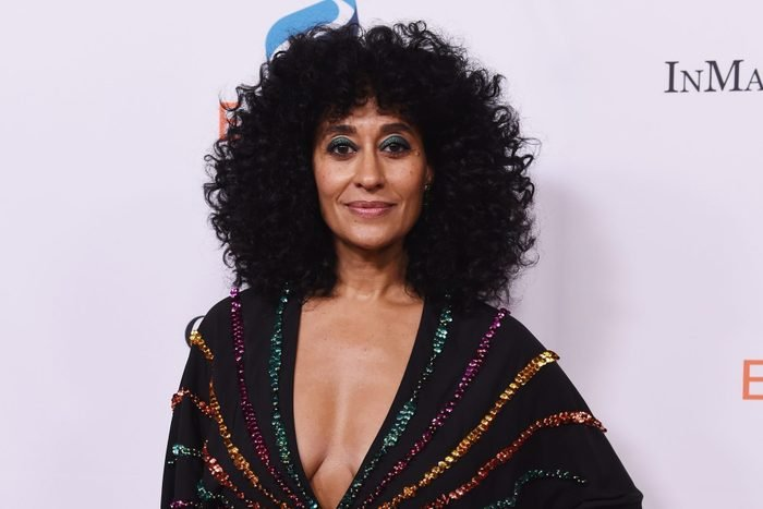Tracee Ellis Ross with a diamond shaped face and curly hair