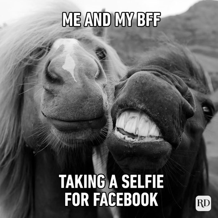 Me and my best friend taking a selfie for Facebook