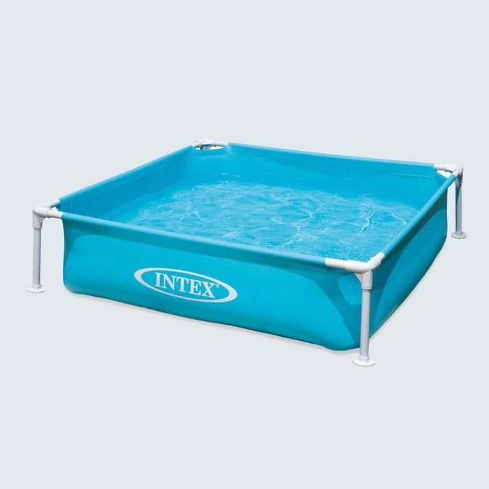 Intex Miniature Outdoor Frame Beginner Teaching Above Ground Square Kiddie Swimming Pool