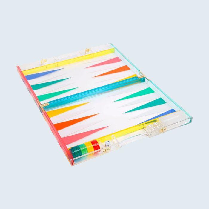 Mark & Graham Colorful Acrylic Backgammon Set