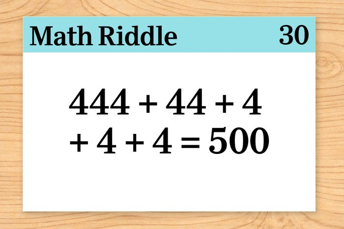 444+44+4+4+4=500