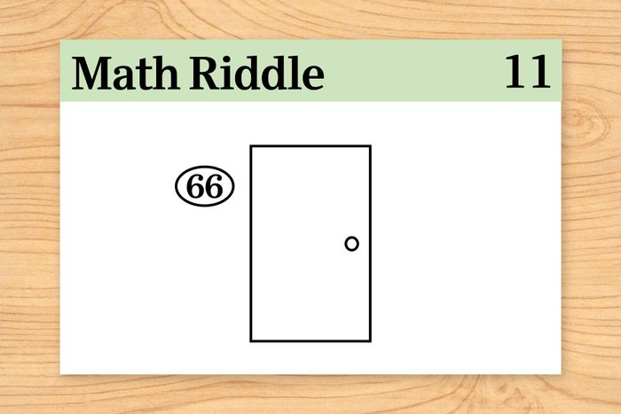 """door labeled """"66"""" on math riddle flashcard"""