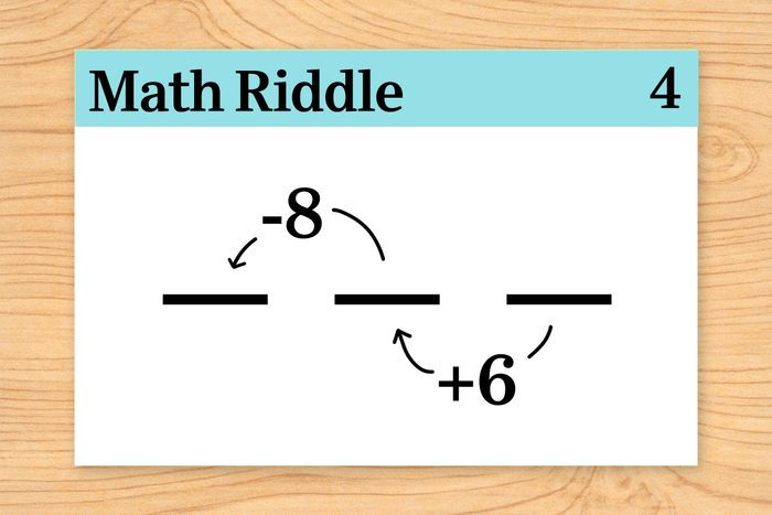 three slots for digits on math riddle flashcard