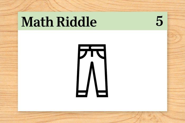 pants on math riddle flashcard