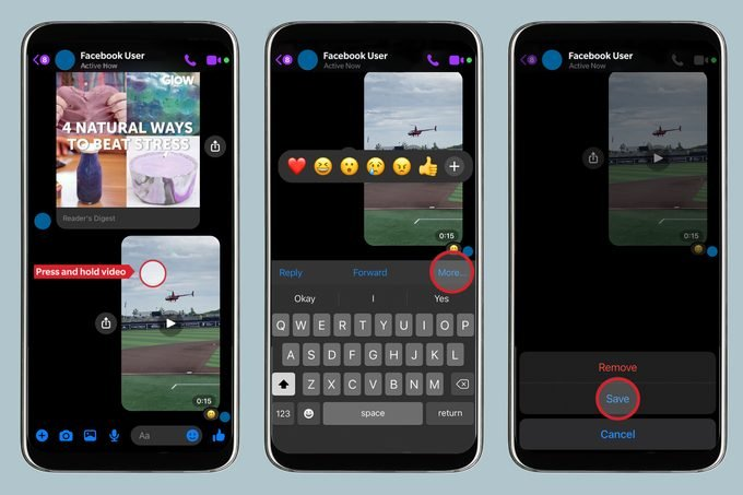 How to save a video for Facebook Messenger on your smartphone