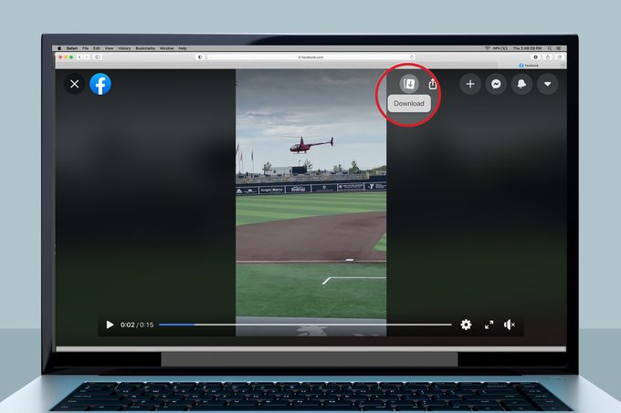 How to save a video from Facebook messenger on your computer