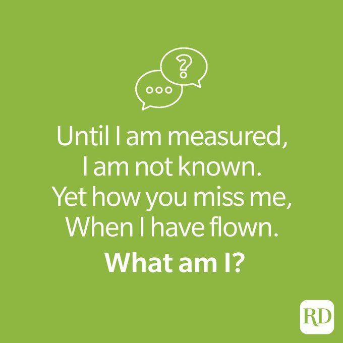 Flown riddle