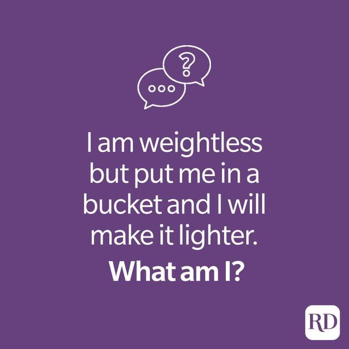 Weightless riddle