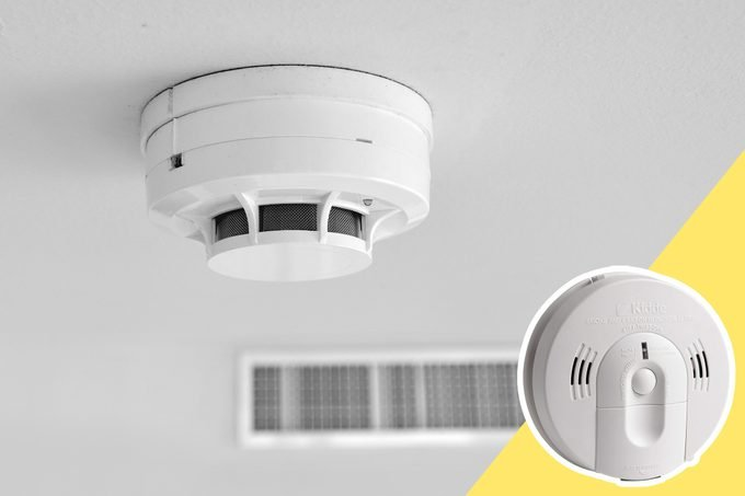 Smoke Detector with inset of new smoke detector